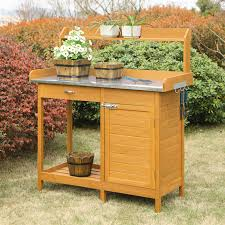 Potting Table Coral Coast Gardeners Choice Fir Wood Potting Bench Potting