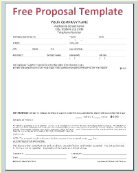 Job Proposal Form Event Template Business Proposal Format Latest Sample