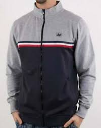 Details About Peaceful Hooligan Joshua Track Top In Grey Navy Tracksuit Jacket
