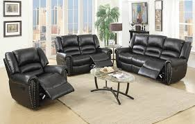 black leather reclining sofa. Lovely Black Leather Reclining Sofa With Recliner