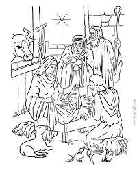Free printable christmas nativity coloring page. Printable Nativity Coloring Pages Coloring Home