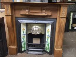 162ti original art nouveau tiled fireplace insert tadcaster