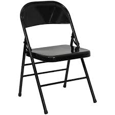 Flash Furniture HF3-MC-309AS-BK-GG Black Metal Folding Chair  WebstaurantStore