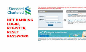 Standard Chartered Net Banking How To Register Login Online