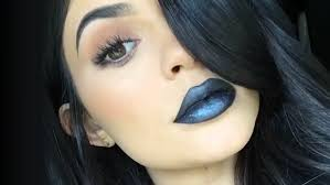 kylie jenner diy black metal matte lipstick makeup tutorial nikkietutorials