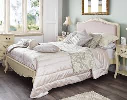 elegant king size beds headboard features grey color headboard with white wooden frames and white wooden bed frames