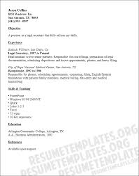 Objective For Legal Assistant Resume Generous Office Secretary Resume Pictures Inspiration Example 37