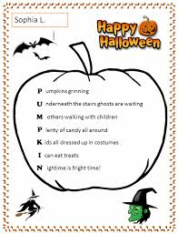Word Halloween Templates Halloween Pumpkin Acrostic Template