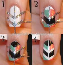 How to make cool shield nail art step by step DIY instructions ...