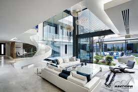 modern home architecture interior. Incredible Living Room In Modern Mansion. Contemporary Home Office Architecture Interior