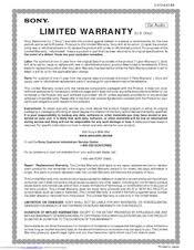 sony cdx 1000rf manuals sony cdx 1000rf limited warranty