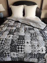 handmade black and white flannel