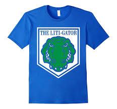 the liti gator funny lawyer gifts shirt for litigator art