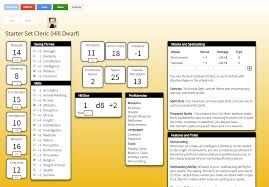 dungeons and dragons character sheet online 5e realtime character sheet google drive powered dnd