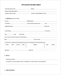 Application For Employment. Free Printable Employment Application ...