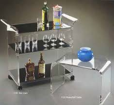 1101 barserving cart acrylic furniture lucite