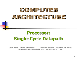 Computer Architecture And Design Patterson Ppt Computer Architecture Powerpoint Presentation Free