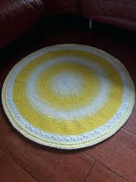 round yellow rug hand crocheted yellow rug home decor yellow round rug gift nursery rugs yellow round yellow rug