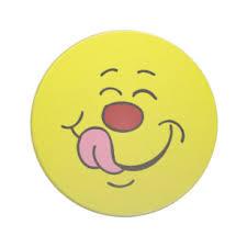 pleased smiley face grumpey coaster