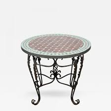 coffee table moroccan round mosaic tile side indoor or outdoor