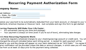 Recurring Payment Authorization Form Best Recurring Payment Authorization Form Automatic Template
