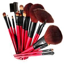 shany professional quality cosmetic makeup brush set with pouch 13 count walmart