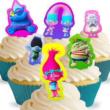 Trolls Cupcake Cake Original Figurines Wilton Pans Collectible