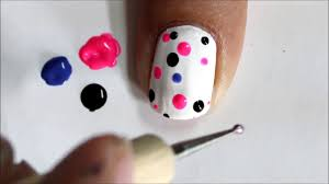 Very Easy Nail Art For Beginners ! - Cute Polka Dots beginners ...