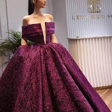 Ball Sleeves Design Ball Gown Evening Dress Puffy Dress Design Off Shoulders