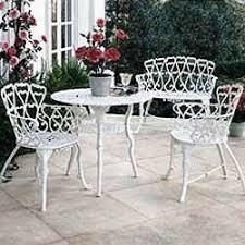 White Wrought Iron Patio Furniture Plan observatoriosancalixto