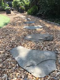 York Stone Stepping Stones And Gravel Path In Our Garden