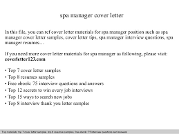spa manager cover letter in this file you can ref cover letter materials for spa cover letter for manager position