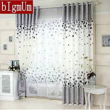 New Arrival Kitchen Curtains Blue /Gray Window Curtains For Living Room  Floral Panel For Summer