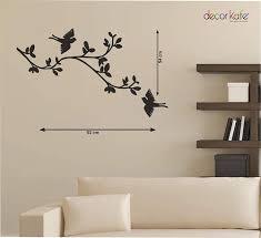 decor kafe tree branch with birds art