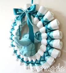 baby shower centerpieces make diaper blue wreath via homemade gifts made easy baby shower decoration ideas baby shower centerpieces