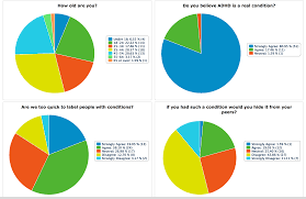 Pie Chart Results For The Questionnaire On Adhd