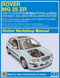 rover 25 mg zr series service and repair manual
