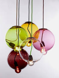 unique pendant lighting. Front Detail Of Cheerful Colored Pendant Lamp In Unique Melting Bulb Lighting A
