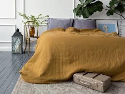 linen honey brown comforter cover