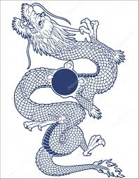 тату дракона на кисть Japanesque дракон векторное изображение