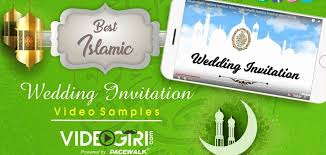 Best Islamic Wedding Invitation Video Templates 2019 For