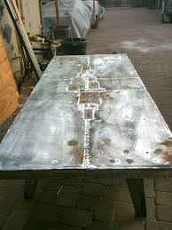images zinc table top:  images about zinc table tops on pinterest coffee tables industrial and furniture