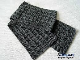 Simple Scarf Knitting Patterns Mesmerizing Мужской шарф с эффектным узором вязаный спицами Men's Knitwear
