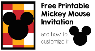Make Your Own Mickey Mouse Invitations Create Your Own Mickey Mouse Invitations Rumble Design