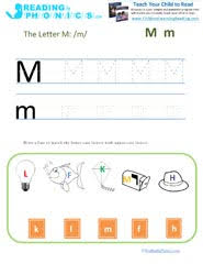 English as a second language (esl) grade/level: Reading Lesson For Letter M And The Mmm Sound