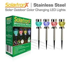 color changing solar garden lights. 4 Pack Stainless Steel Color Changing Solar Pathway LED Accent Outdoor Lights. Ideal Lighting For Walkway Patio Yard Deck Driveway And Garden Lights R