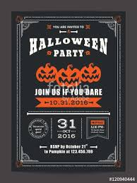 Halloween Business Cards Vector Halloween Night Party With Scary Pumpkins Background