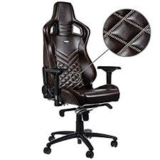 office leather chair. Noblechairs EPIC Real Leather Gaming Chair - Brown/Beige With Genuine Leather, 2 Year Warranty, Up To 180KG Users, Perfect For An Executive Office