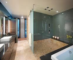 ideas bathroom tile color cream neutral: contemporary shower tile ideas bathroom contemporary with beige stone floor multiple shower head