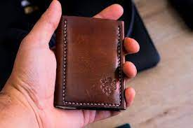 leather card holder minimalist wallet